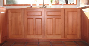 Alder with Cherry Stain lower panel